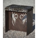 pouf métal